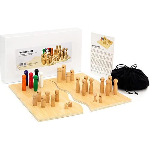 Familienbrett-Systembrett aus hochwertigem Holz für Familienaufstellung und Coaching