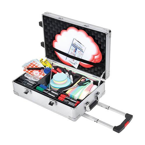 Legamaster 7-225300 Professional Travel Moderatorenkoffer mit umfangreichen Moderationszubehör, Aluminium